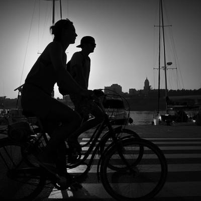 En bici 'contra'